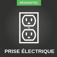 Prise électrique résidentiel